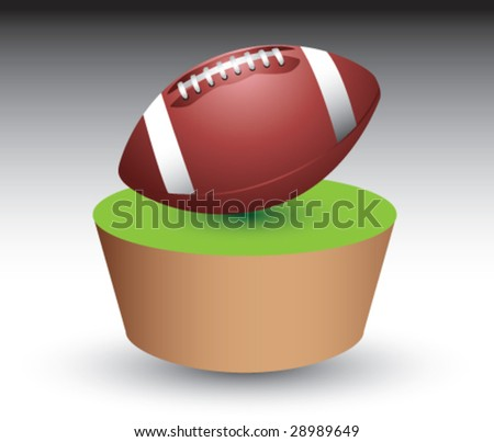 patch and football - stock vector