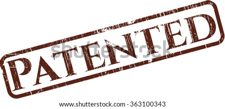 Patented grunge seal - stock vector