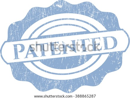 Patented grunge style stamp - stock vector