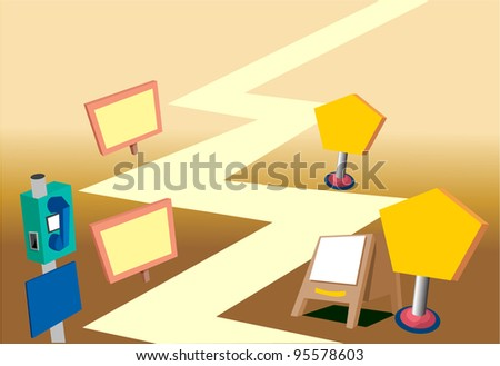 Path of Life - stock vector