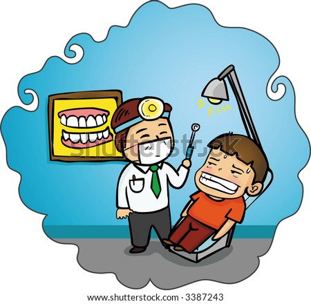 Patient in the dental clinic. (Vector) - stock vector