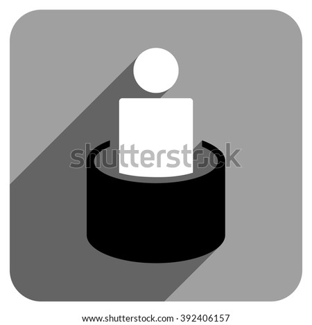 Patient Isolation long shadow vector icon. Style is a flat patient isolation iconic symbol on a gray square background. - stock vector