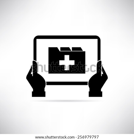 patient medical record - stock vector