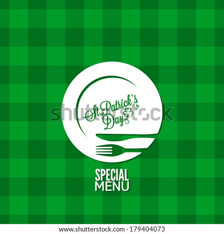 patrick day party holiday menu design background - stock vector