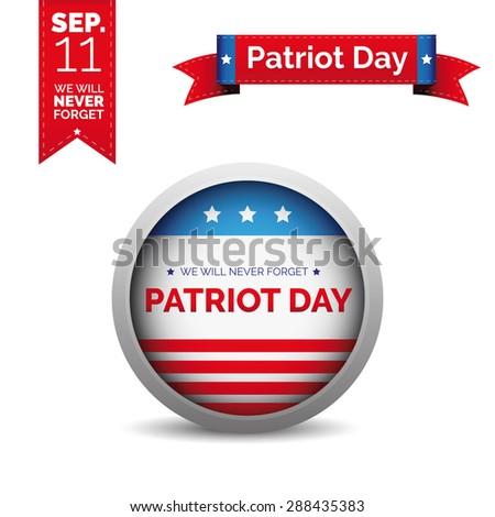 Patriot day vector set - stock vector