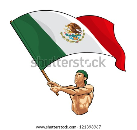 Patriot Mexico - stock vector