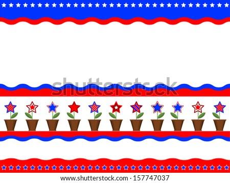 Patriotic American background. - stock vector
