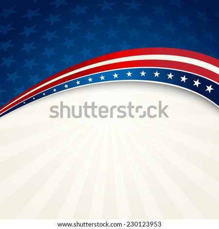Patriotic background american flag color - stock vector