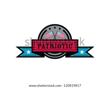 Patriotic Badge. - stock vector