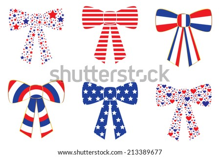 Patriotic Bows - stock vector