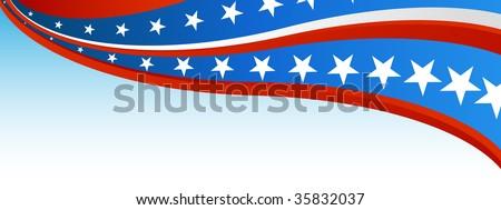 Patriotic Flag Banner - stock vector