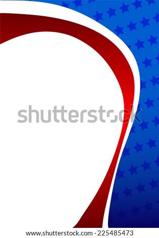 Patriotic frame - stock vector