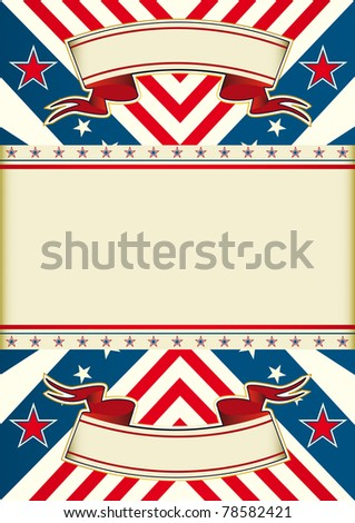 Patriotic leaflet An american poster with a frame for your message - stock vector