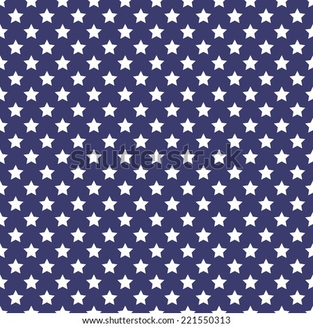 Patriotic white and blue geometric seamless patterns. Vector set with American symbols. USA flag. - stock vector