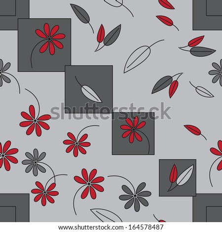 pattern abstract geometric shapes flowers circles - stock vector
