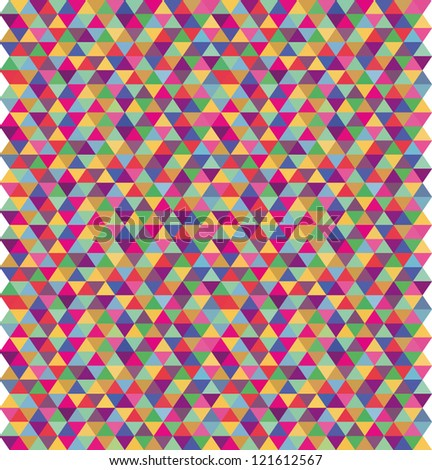pattern color triangles - stock vector