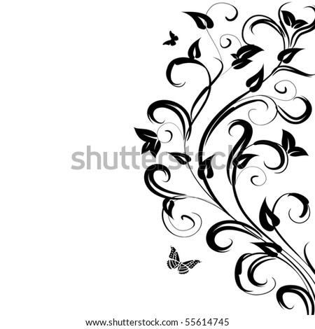 pattern floral branch - stock vector