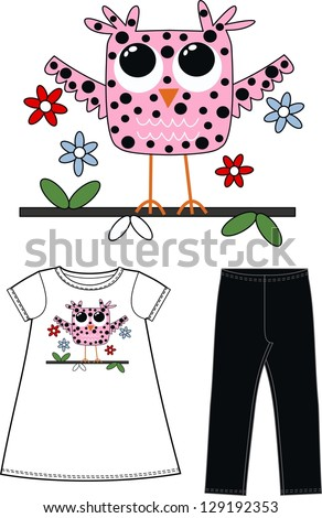 pattern for children fashion industry - stock vector