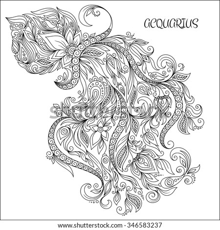 Aquarius Crazy Coloring Pages Patterns