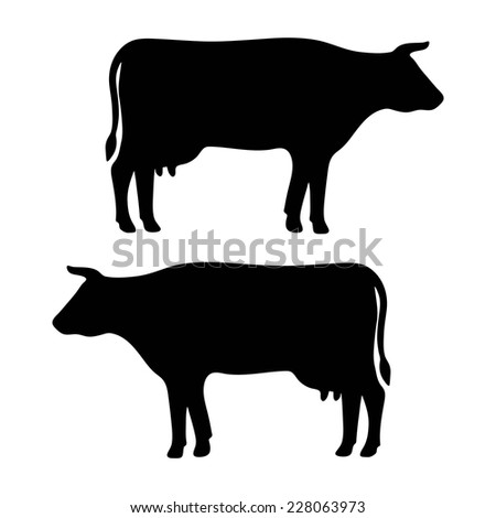 pattern for design on the farm, beef and dairy production - stock vector