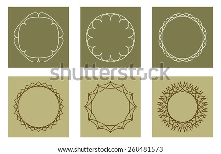 pattern frame border design - stock vector