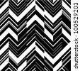 Pattern in zigzag - black and white - stock vector