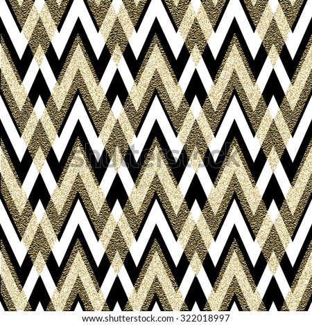 Pattern in zigzag. Classic chevron seamless pattern. Vector design - stock vector