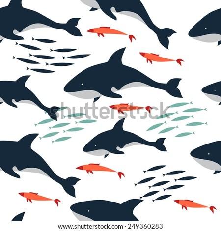 pattern killer sea - stock vector