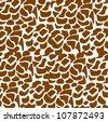 pattern of animal print, giraffe skin texture, vector illustration - stock vector
