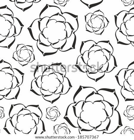 Pattern of flowers. - stock vector