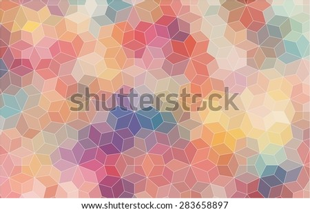 Pattern of geometric shapes. Colorful-mosaic-banner. Geometric hipster background.  - stock vector