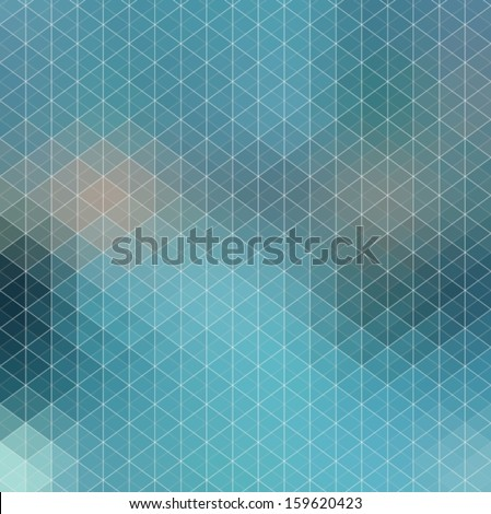 Pattern of geometric shapes, Geometric Background with flow of spectrum effect, blue color, Vector - stock vector
