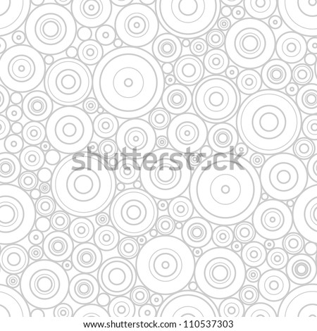 Pattern of gray circles - stock vector