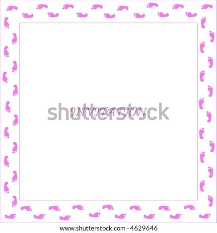 pattern of invitation for girls - stock vector