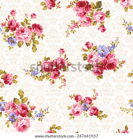 pattern of rose, - stock vector