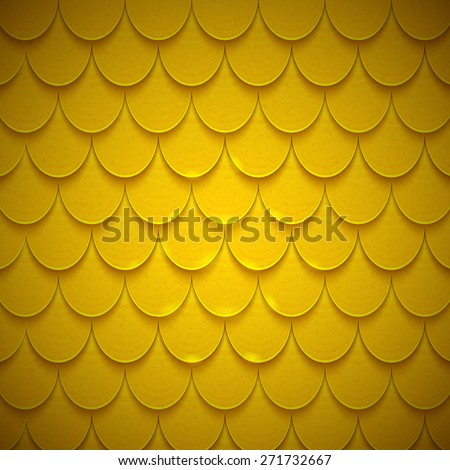 Pattern of semicircles in squama style. Bright colored shiny backdrop. Vector design template.  - stock vector
