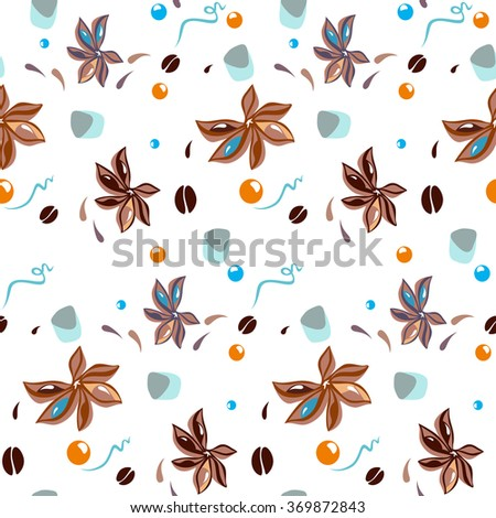 pattern of sweet and anise - stock vector