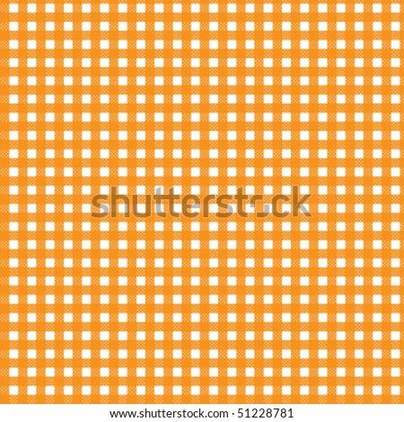 Pattern picnic orange - stock vector