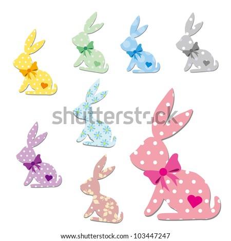 Pattern Rabbit - stock vector