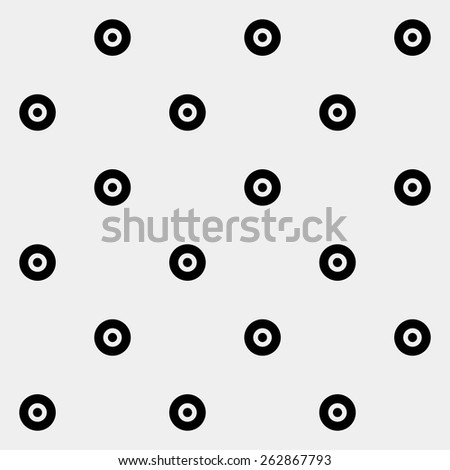 Pattern rounds. Monochrome minimal, geometric. Can be used as wrapping paper or texture for clothes. - stock vector