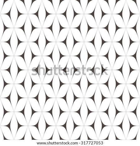 Pattern with black curves triangles - stock vector