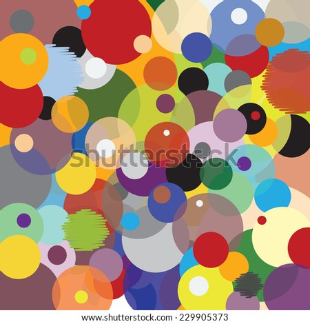 Pattern with Circles - Multicolored - Joyful Accumulation - stock vector