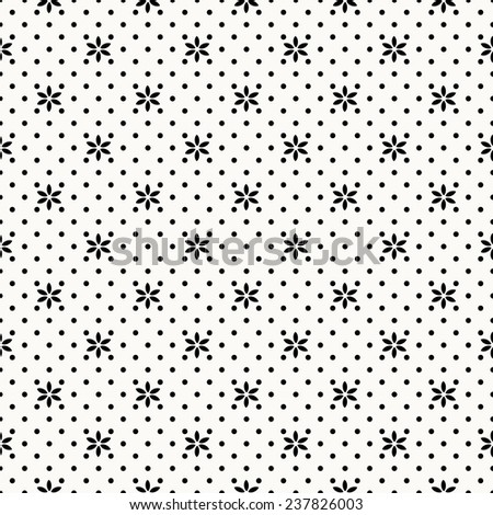 Pattern with flowers vector seamless pattern - stock vector