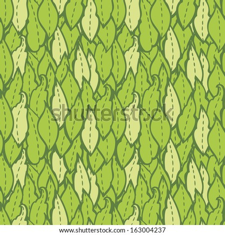 Pattern with green leaves. Vector background for textile, wrapping paper and other printing and web projects. - stock vector