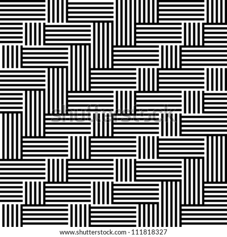 Pattern with stripe black and white - stock vector