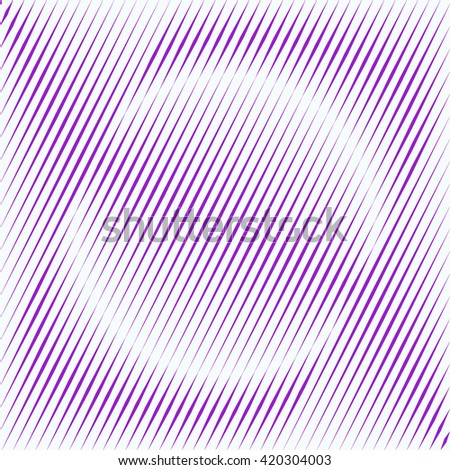Pattern with symmetric geometric ornament. Purple violet sharp lines and round spheres abstract background. 3d optical illusion effect wallpaper. Vector illustration - stock vector