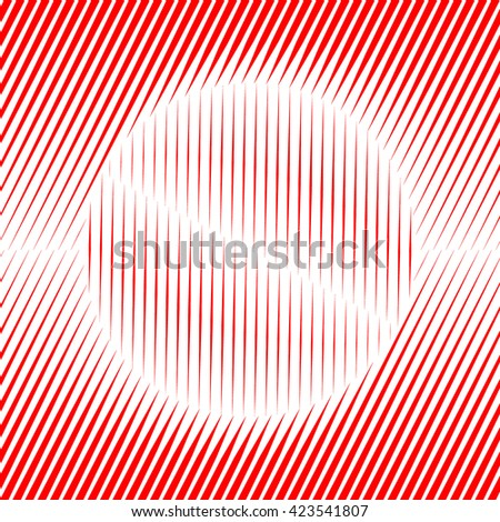 Pattern with symmetric geometric ornament. Red  sharp lines and round spheres abstract background. 3d optical illusion effect wallpaper. Vector illustration - stock vector