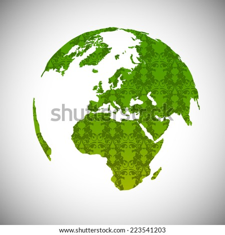 Patterned Earth, vector - stock vector