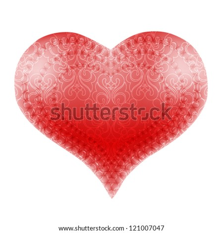 Patterned heart, or an idea for valentine wedding day - stock vector