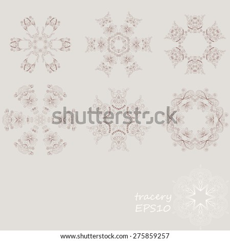 patterns (lace) for decoration - stock vector